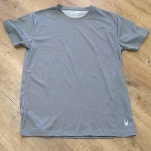 SPYDER men's active sport shirt GRAY athletic